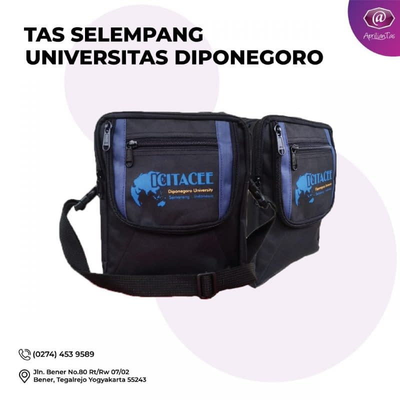 Tas Selempang Universitas Di Ponogoro Pesanan Bapak Arfan Untuk acara Acara ICETACEE - tas promosi dan seminar medan