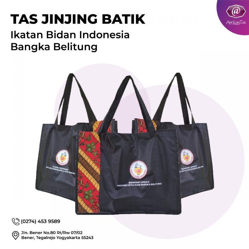 Tas Jinjing Batik- Pesanan Bu Fidya Dari Ikatan Bidan Indonesia Bangka Blitung - desain tas seminar medan