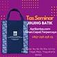 Model tas untuk seminar, Tas Jinjing Batik ialah tas seminar yang di pesan oleh Bp Susilo. Sekali lagi kami ucapkan terimakasih yang sebesar-besarnya. Semoga tas seminar yang di pesan di Apriliantas.com bermanfaat di kemudian hari. Jogja atau Yogyakarta Merupakan salah satu daerah istimewa yang ada di indonesia dan dulu pernah menjadi ibukota negara indonesia. Jogja […]
